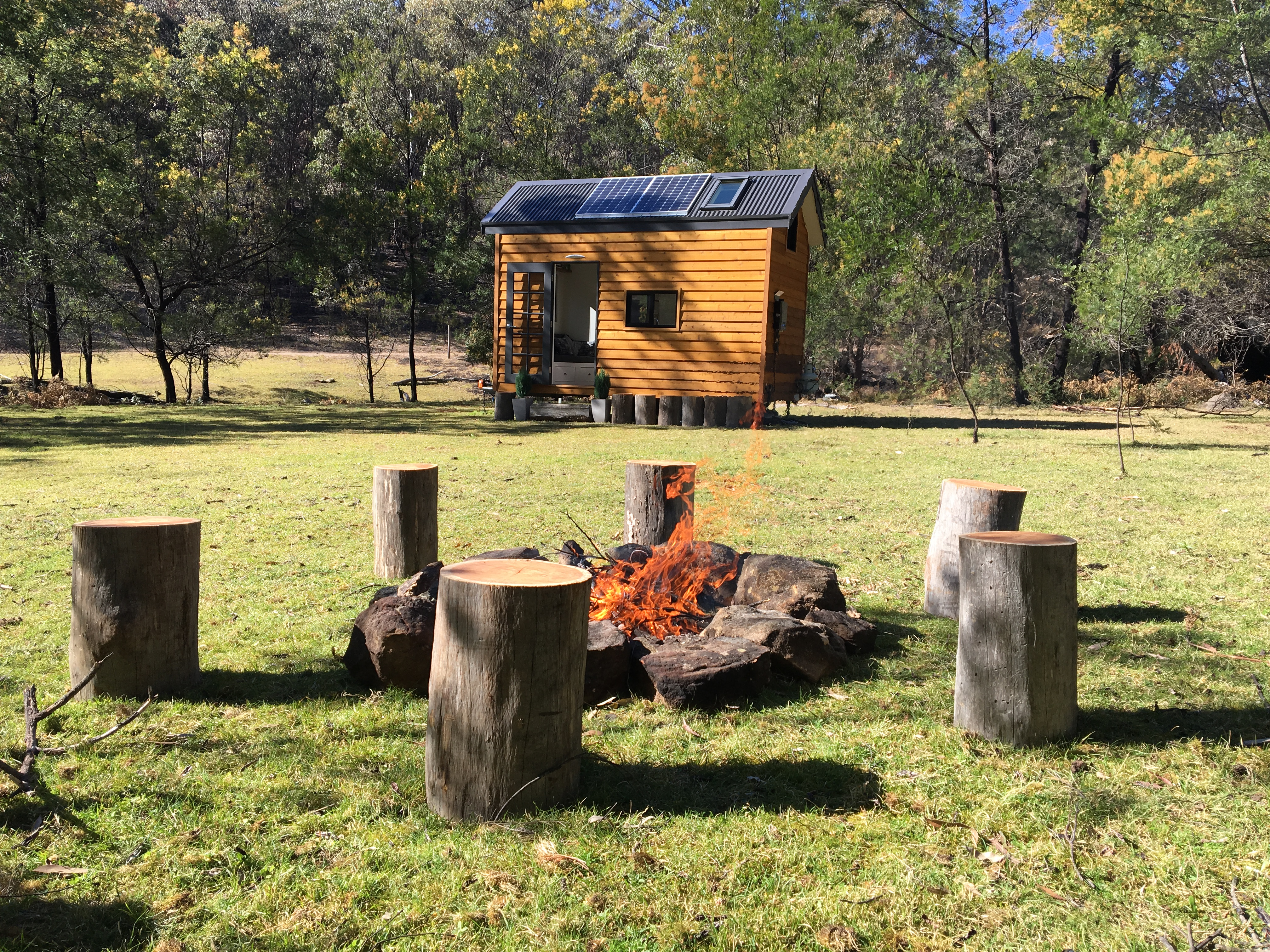 country tiny house for rent garland valley tiny real